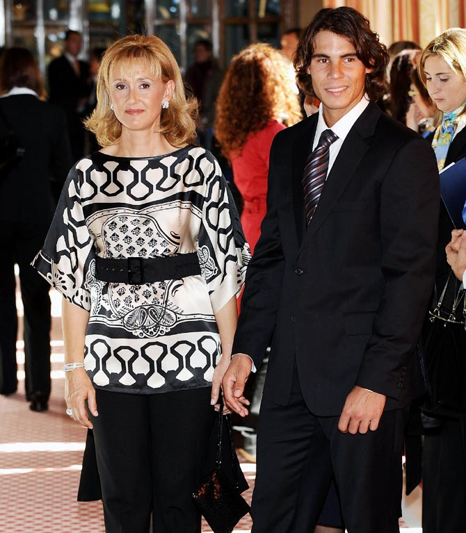 Rafael Nadal with his mother Ana Maria Parera