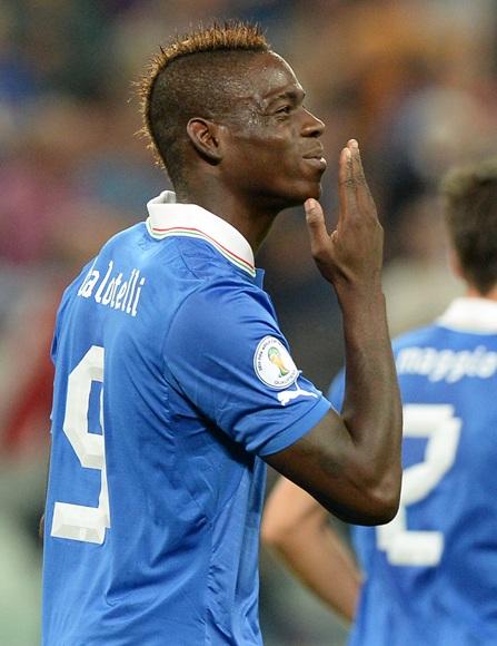 Mario Balotelli of Italy celebrates scoring
