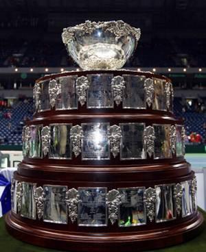 The Davis Cup trophy