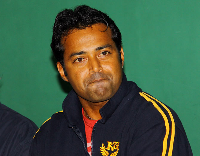 Rediff Sports - Cricket, Indian hockey, Tennis, Football, Chess, Golf - Bhupathi's conduct unbecoming of Davis Cup captain: Paes