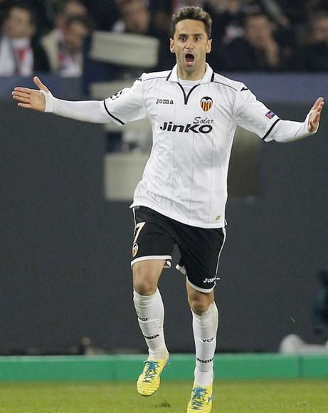 Valencia's Jonas celebrates