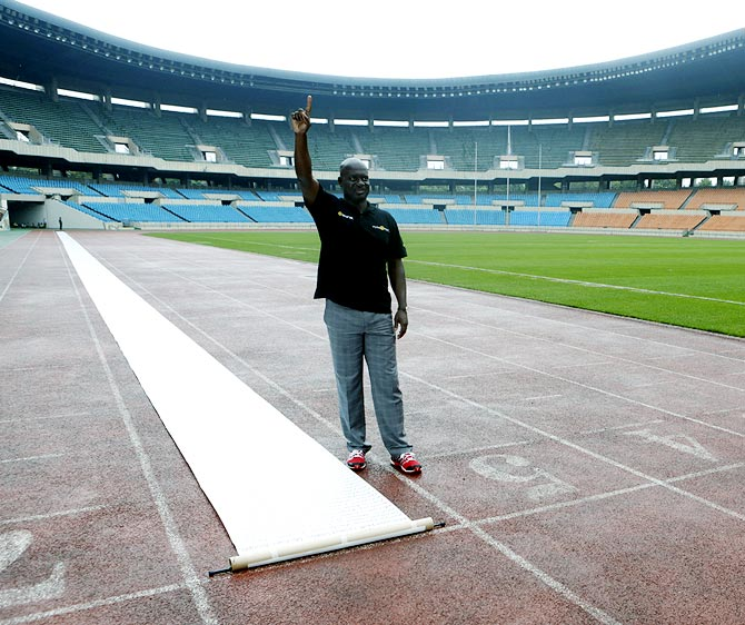 Ben Johnson at the Seoul Olympic Stadium