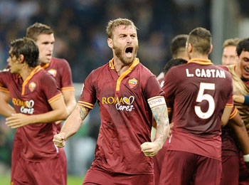 Daniele De Rossi of AS Roma celebrates