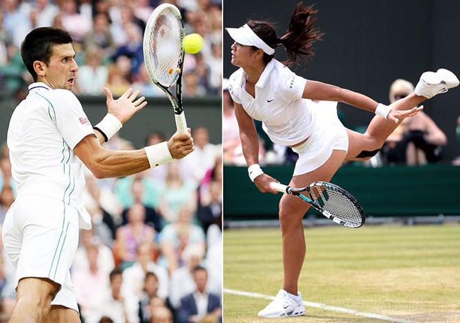 Novak Djokovic and Li Na
