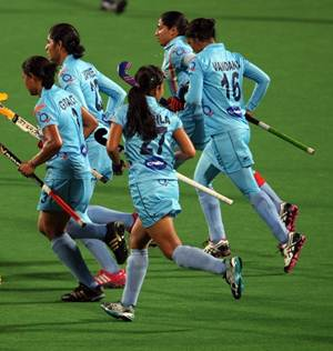 Members of the Indian women's hockey team