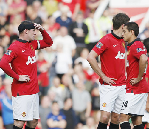 Wayne Rooney and Javier Hernandez