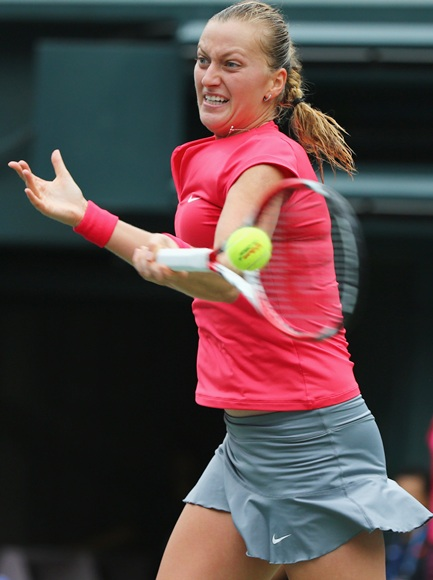 Petra Kvitova of Czech Republic in action