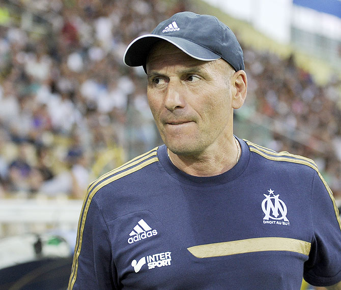 Head coach of Olympique Marseille Elie Baup