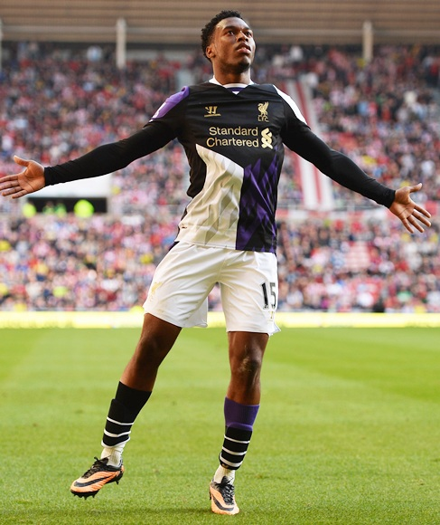 Daniel Sturridge of Liverpool celebrates