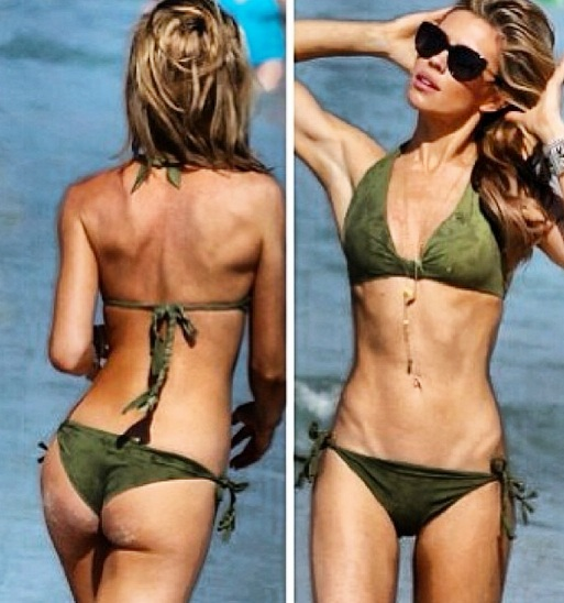 Abbey Clancy flaunts her slim figure