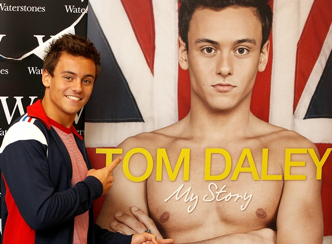 Tom Daley signs copies of his book 'Tom Daley 'My Story'