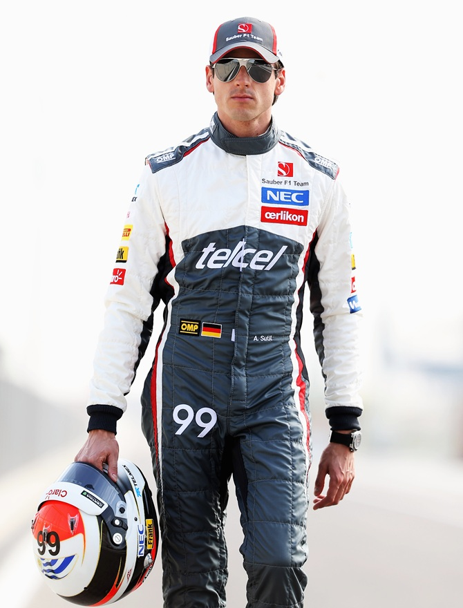 Adrian Sutil of Germany and Sauber F1 poses for a photograph