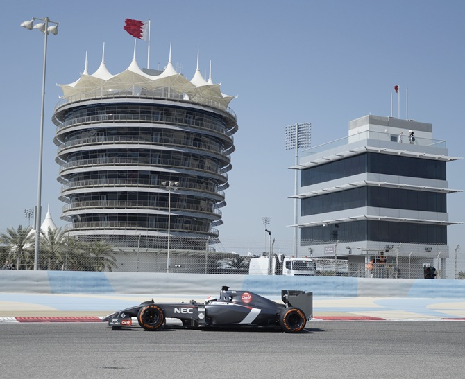 Sauber F1 driver Adrian Sutil of Germany drives