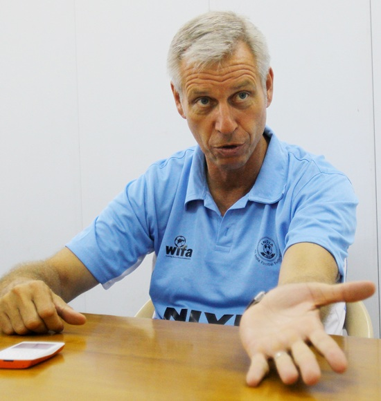 Wim Koevermans during a media interaction
