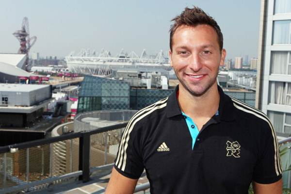 Swimmer Ian Thorpe of Australia at the adidas Olympic Media Lounge at Westfield Stratford City on July 26, 2012 in London, England.