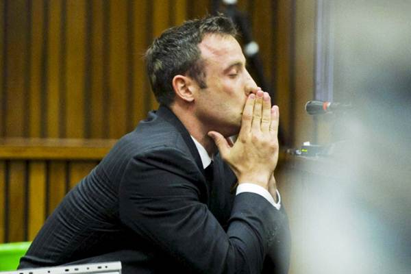 Oscar Pistorius during the trial