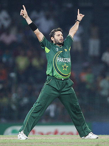 Shahid Afridi of Pakistan