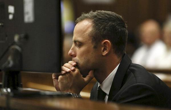 Oscar Pistorius at the Pretoria high co