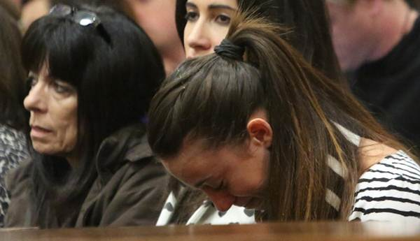 Gina Myers, Reeva Steenkamp's best friend, is overcome with emotion as she listens to Oscar Pistorius's testimony