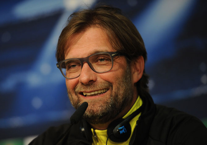Head coach Juergen Klopp of Borussia Dortmund gives a press conference