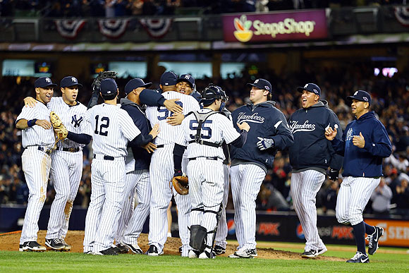 The New York Yankees celebrate