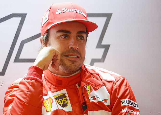 Fernando Alonso of Ferrari before the qualifying in Shanghai on Saturday