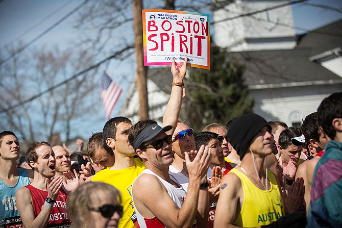 10 BEST PHOTOS: Unbridled spirit on show at Boston Marathon