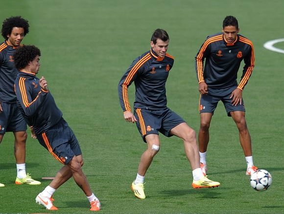 Real Madrid's Gareth Bale at a training session