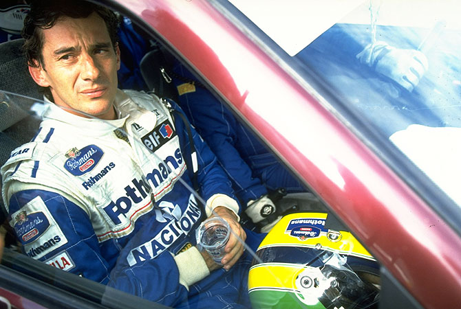 Williams Renault driver Ayrton Senna of Brazil