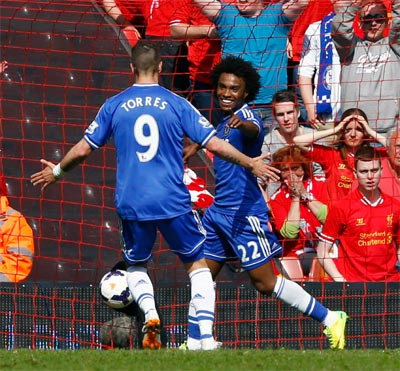 Liverpool stunned by Chelsea, City win to blow title race wide open