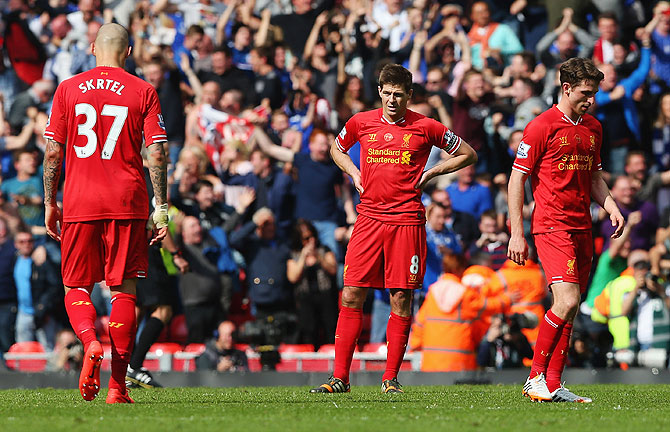 EPL PHOTOS: How Gerrard's slip-up could cost Liverpool in title bid
