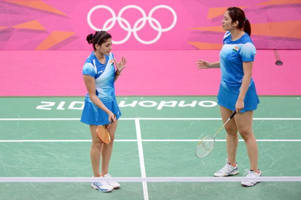 Ashwini Ponnappa (left) and Jwala Gutta during the London Olympics