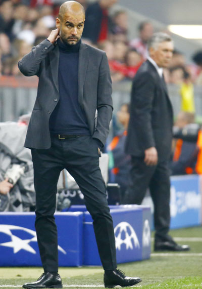 Bayern Munich's coach Josep Guardiola