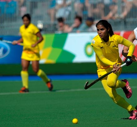 A member of the Indian hockey team in action