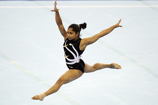 Dipa Karmarkar of India competes
