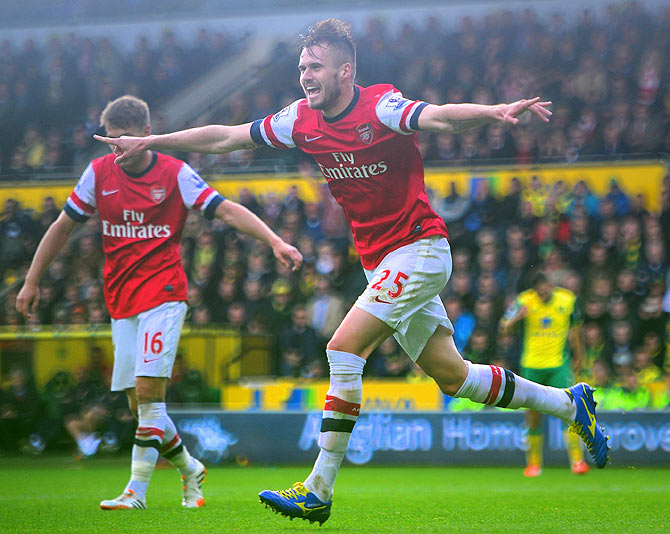 Carl Jenkinson of Arsenal