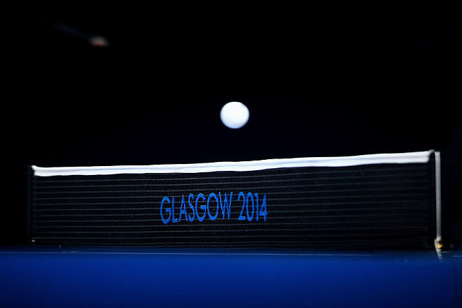 A general view of the ball and the net during the Men's Team Table match at the Commonwealth Games in Glasgow (The image is used for representational purposes)