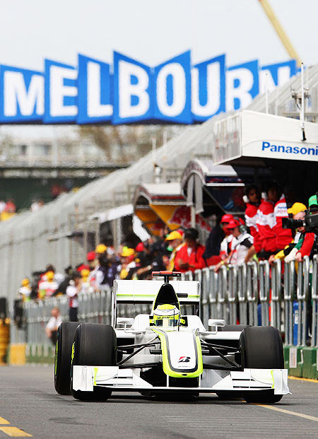 An F1 race in Melbourne