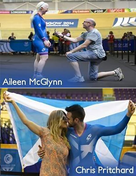 Aileen McGlynn and Chris Pritchard at their proposals