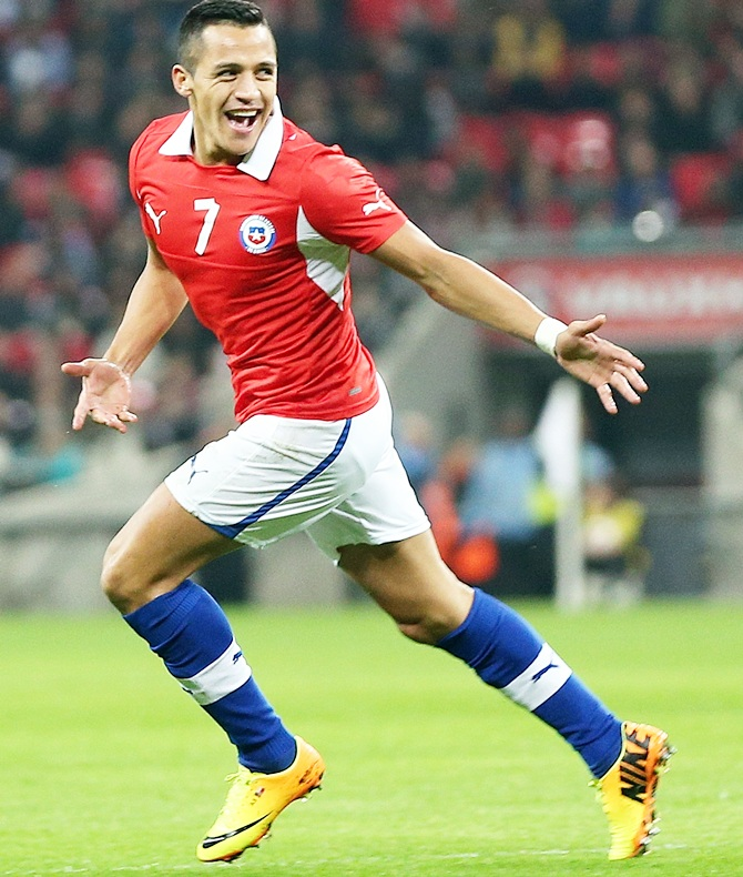 Alexis Sanchez of Chile