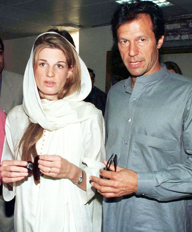 Pakistan's   former cricket hero Imran Khan and his ex-wife Jemima Goldsmith