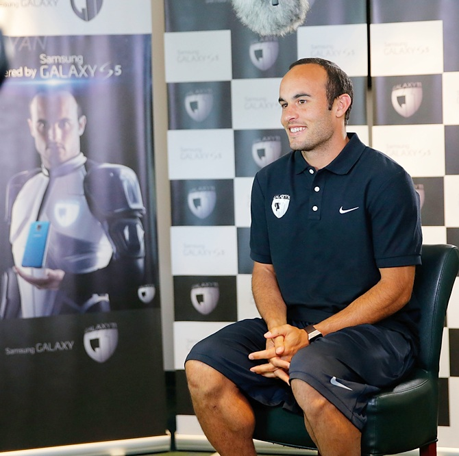 Landon Donovan speaks to media