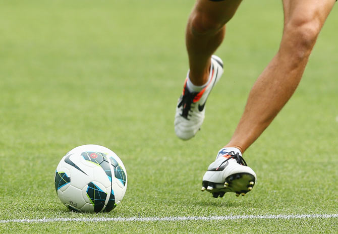 A player kicks a soccer ball in Melbourne, Auatralia. (Image used for representational purposes)