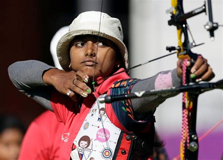 India's Deepika Kumari takes aim