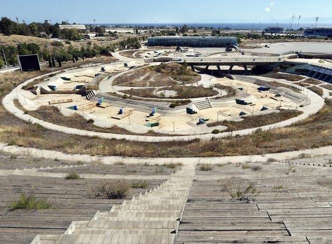 The Olympic Canoe and Kayak Slalom Center at the Helliniko Olympic complex in Athens