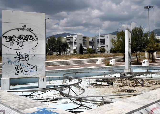 The abandoned Olympic Village built for the 2004 Olympic Games in Athens