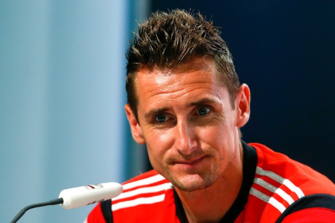 Miroslav Klose during a news conference