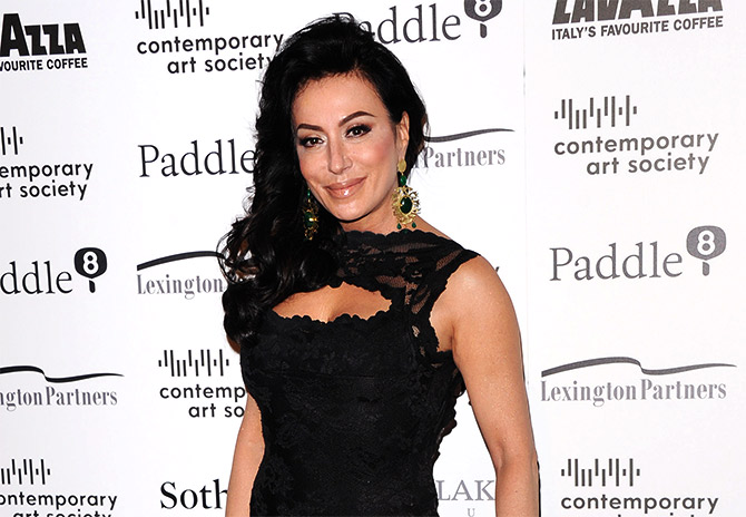 Nancy Dell'Olio arrives for the Contemporary Art Society Fundraising Gala at Tobacco Dock