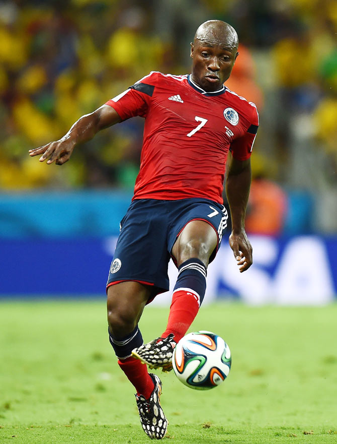 Pablo Armero of Colombia