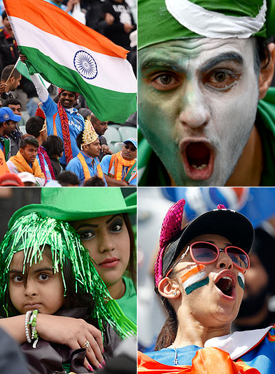 India and Pakistan sports fans